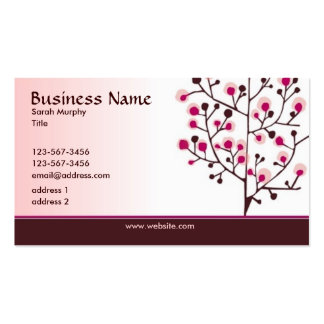Modern Elegance Business Card -pink and brown
