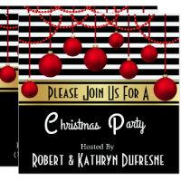 Modern Elegance Christmas Party Invitation