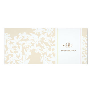 Modern Elegance Ecru Fleur de Lis Wedding Card