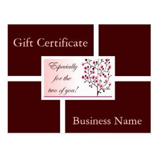 Modern Elegance gift certificate I Post Card