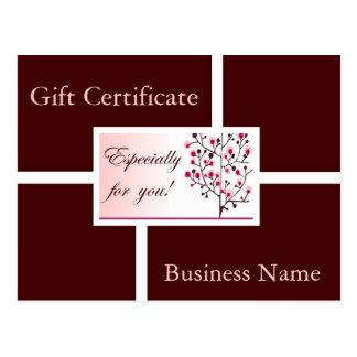 Modern Elegance gift certificate II Postcard