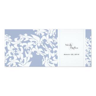 Modern Elegance Ice Blue Fleur de Lis Wedding Card