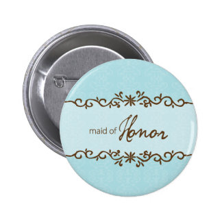 Modern Elegance Maid of Honor Button