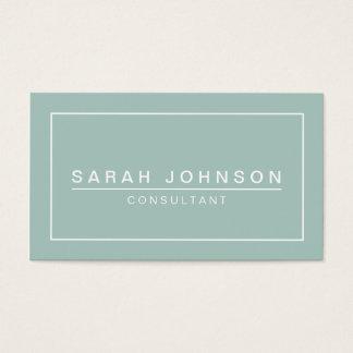 Modern Elegance Mint Green Business Card