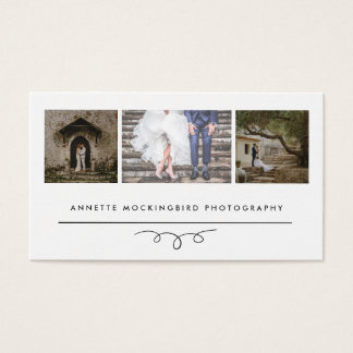Modern Elegance |  Photography Three Photos Business Card