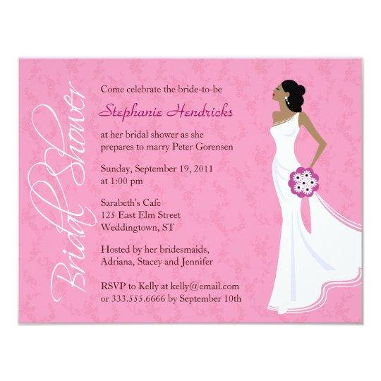 Modern Elegance Pink Bridal Shower Card