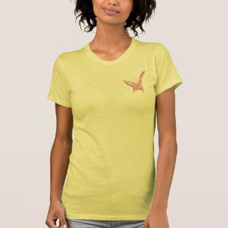 Modern elegant Art Nouveau butterfly rose T-Shirt