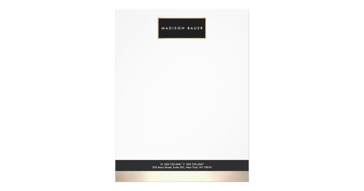 Attorney letterhead zazzle modern elegant black gold plaque professional letterhead spiritdancerdesigns Choice Image