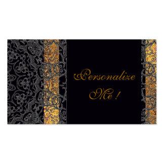 Modern Elegant Black/Gold Trendy Wedding Stylish Business Card