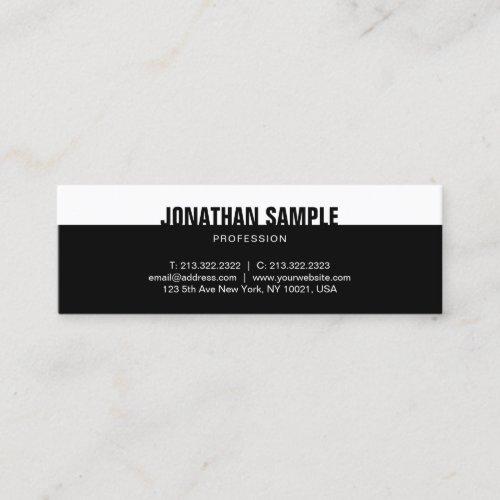 Modern Elegant Black White Template Professional Mini Business Card