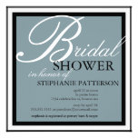 Modern & Elegant Bridal Shower in Blue Invitation