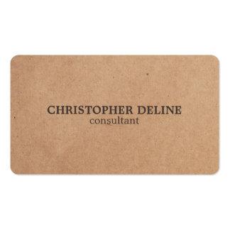 Modern Elegant Brown White Kraft Paper Consultant Business Card