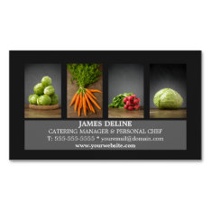 Modern Elegant Catering Chef Business Card at Zazzle