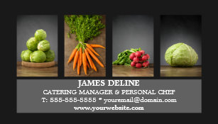 Chef business cards templates zazzle modern elegant catering chef business card colourmoves