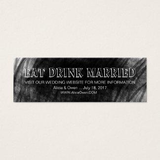 Modern Elegant Chalkboard Wedding Website Cards