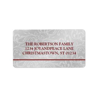 Modern Elegant Christmas Address Labels