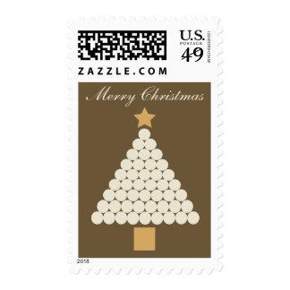 Modern Elegant Christmas Tree postage stamp