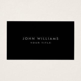 Modern elegant classy black professional profile business card