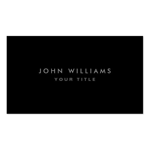 Modern elegant classy black professional profile business card templates