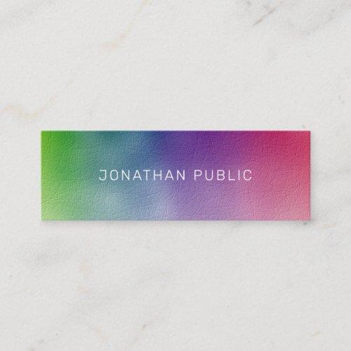 Modern Elegant Colorful Minimalist Template Mini Business Card