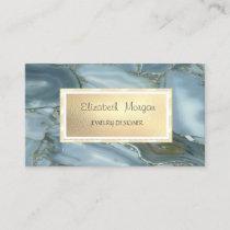 Modern Elegant Cool Marble, Frame Jewelry Designer Business Card