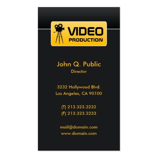 Modern Elegant Corporate Black Video Business Card
