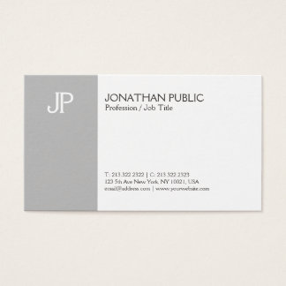 Modern Elegant Creative Monogram Clean Plain Business Card