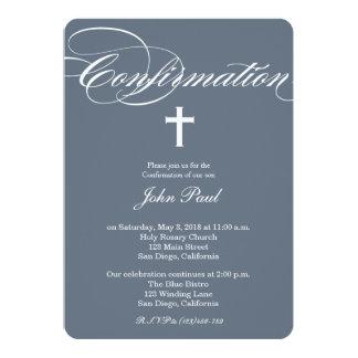 Modern Elegant Cross Confirmation Invitation