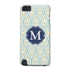 Modern Elegant Damask Blue Paisley Personalized Ipod Touch 5g Cover at Zazzle