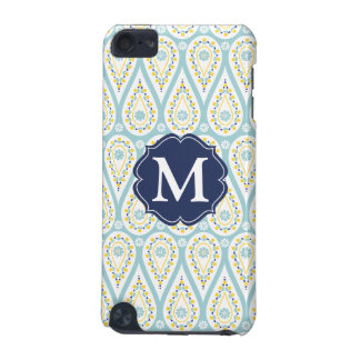 Modern Elegant Damask Blue Paisley Personalized iPod Touch 5G Cover