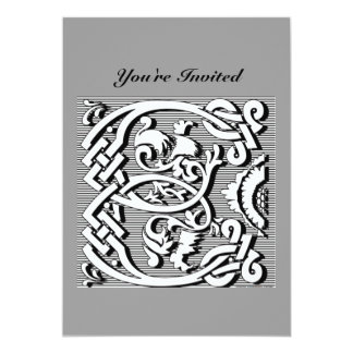 modern elegant fancy letter ( E ) monogram Card