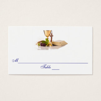 Modern Elegant First Communion Seating Place Cards