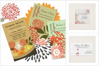 Modern Elegant Floral Business Cards