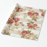 """Modern Elegant Floral Vintage Wrapping Paper<br><div class=""""desc"""">Modern Elegant Floral Vintage Wrapping Paper - Glossy Paper - See our other products and collections,  choose a gift for you and your dear ones.  Thanks for buying in our store. Come again. :)</div>"""