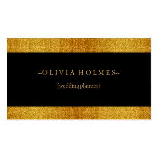 Modern Elegant Gold Black Foil Metal Professional Business Card