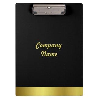 Modern Elegant Gold Foil Company Clipboards