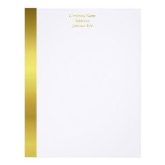 Executive letterhead zazzle modern elegant gold foil company letterhead spiritdancerdesigns Images