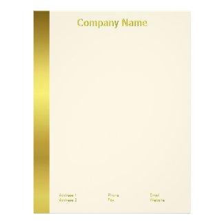 Modern Elegant Gold Foil Company Letterhead