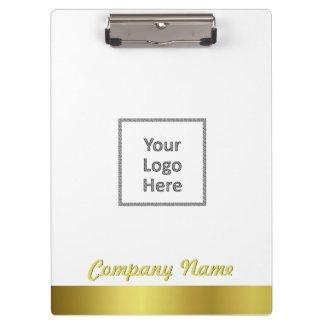 Modern Elegant Gold Foil Company Logo Clipboard