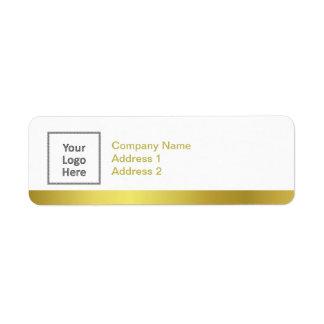 Modern Elegant Gold Foil Custom Business Logo Label