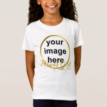 Modern Elegant Gold Foil FLOWER GIRL Photo T-Shirt
