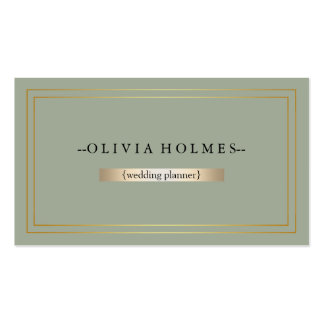 Modern Elegant Gold Foil Metal Professional Business Card