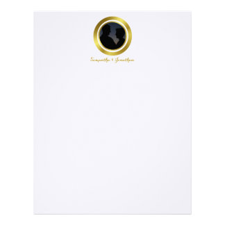 Modern Elegant Gold Foil Photo Wedding Engagement Letterhead