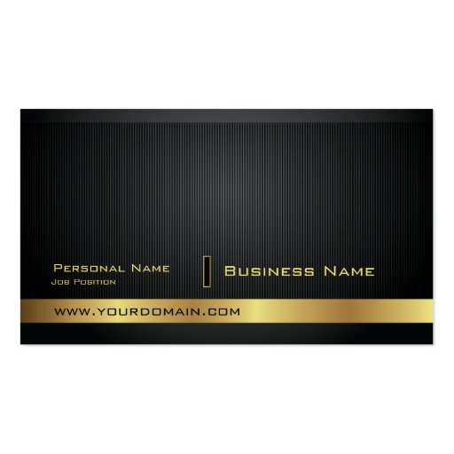 Modern Elegant Golden Plain Business Card