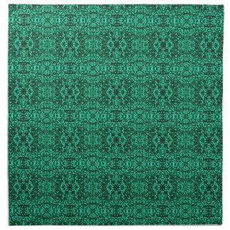 Modern Elegant Green Ethnic Pattern Cloth Napkin