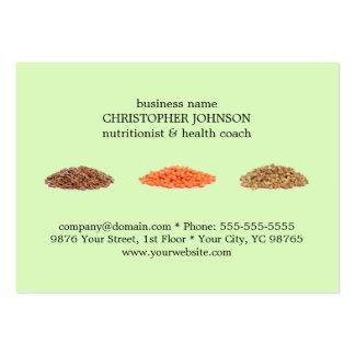 Modern Elegant Green Seeds Photo Nutritionist Large Business Card
