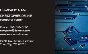 Circuit business cards zazzle modern elegant grey blue circuit computer repair business card colourmoves