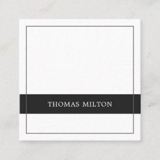 Modern Elegant Grey White Stripe Consultant Square Business Card