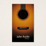 Modern Elegant Guitar Musician Business Card at Zazzle