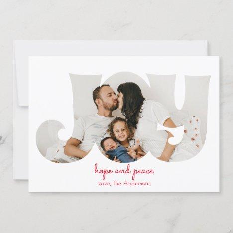 Modern Elegant Holiday greeting card